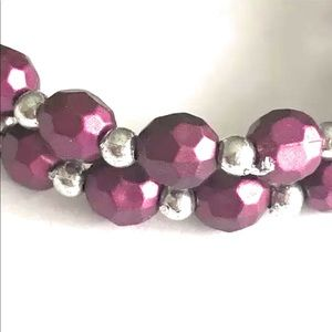 Purple and Silver Stretch Bracelets